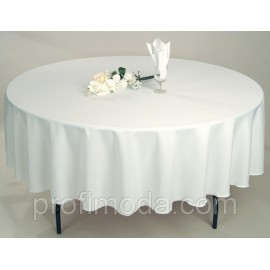 The tablecloth is round