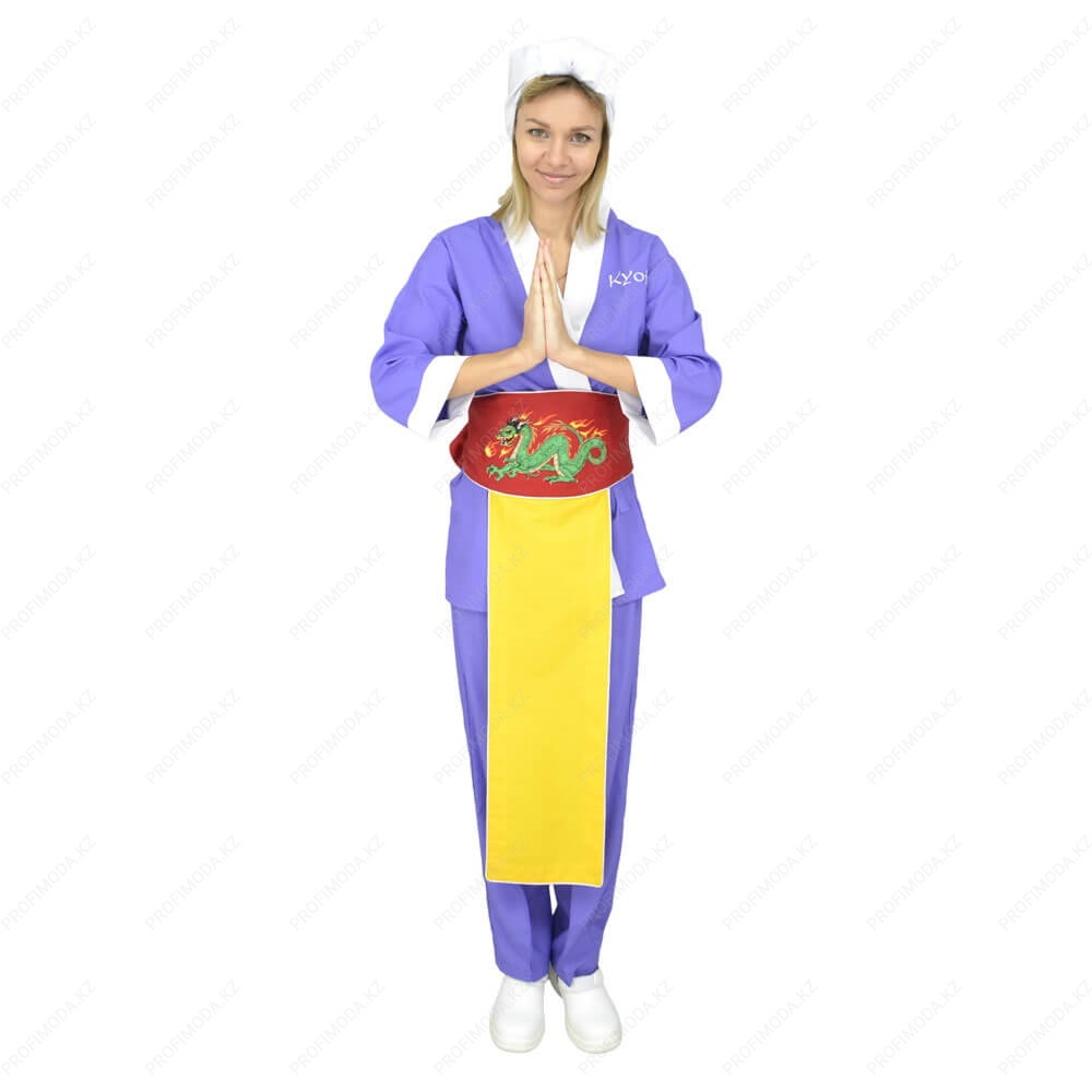 A set of Japanese uniforms of sushi