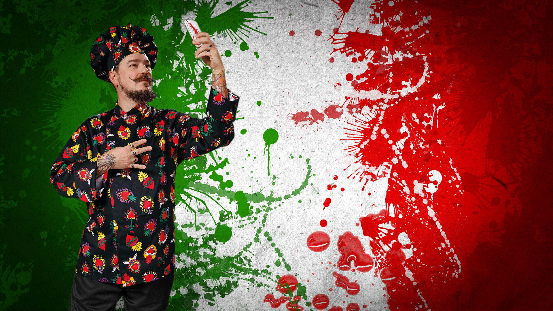 The arrival of fashionable tunics for chefs from Italy